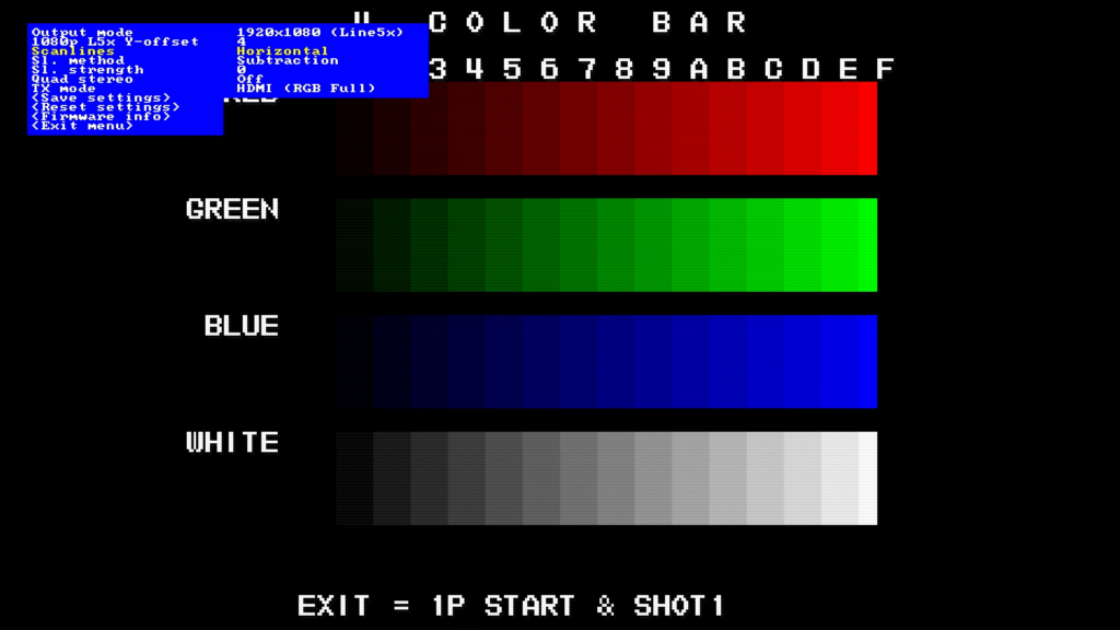 CPS2 digital AV interface scanlines - Horizontal Subtraction 0