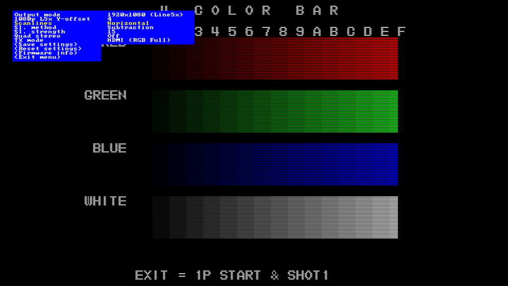CPS2 digital AV interface scanlines - Horizontal Subtraction 15
