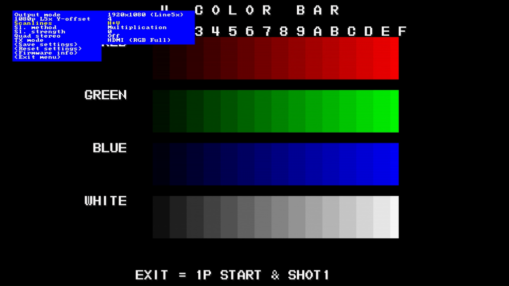 CPS2 digital AV interface scanlines - H+V Multiplication 0