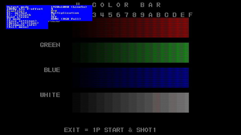 CPS2 digital AV interface scanlines - H+V Multiplication 15