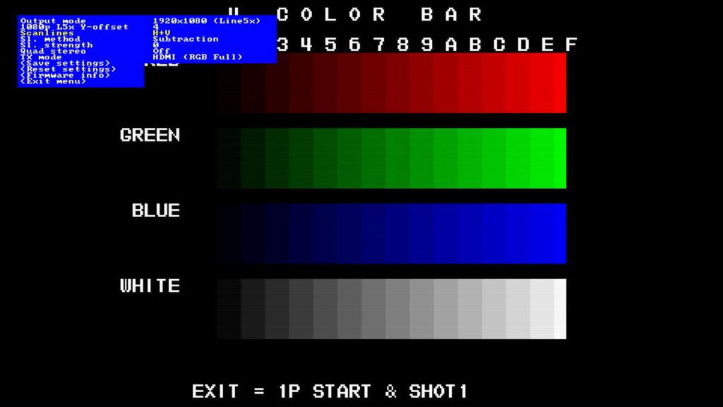 CPS2 digital AV interface scanlines - H+V Subtraction 0