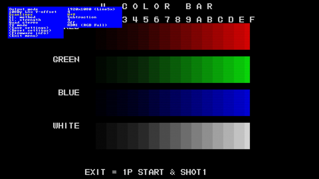 CPS2 digital AV interface scanlines - H+V Subtraction 4