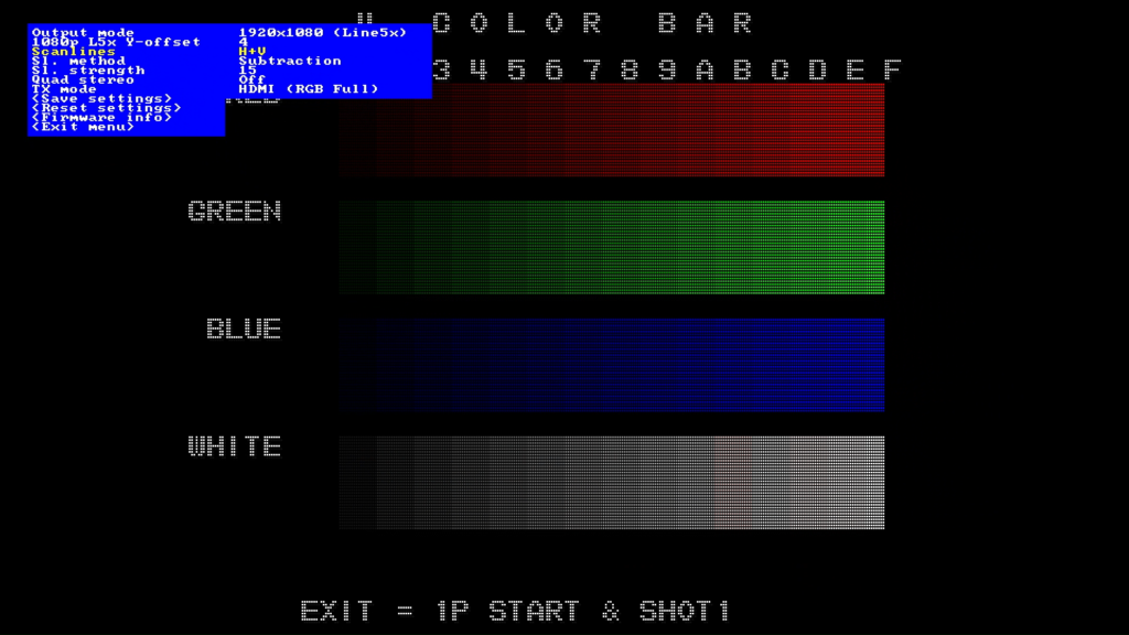 CPS2 digital AV interface scanlines - H+V Subtraction 15