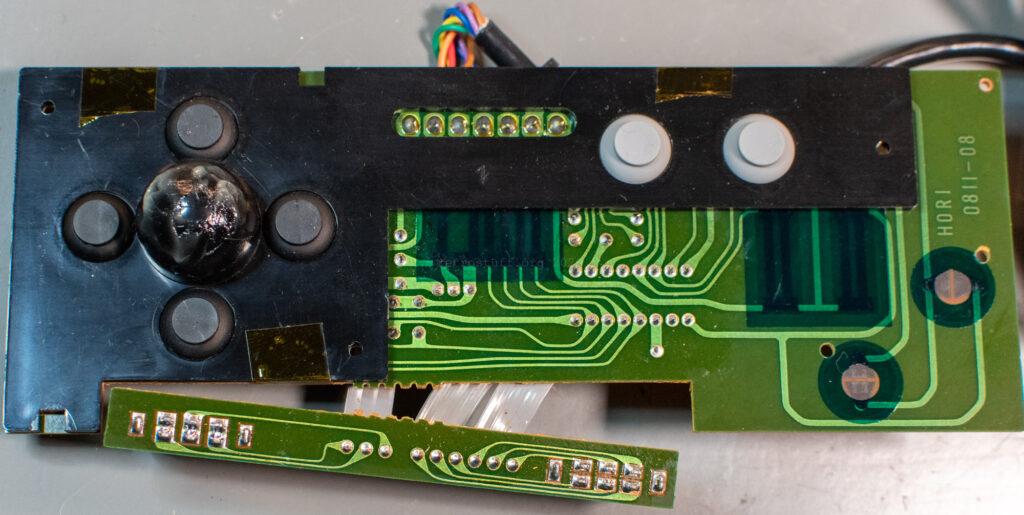 Hori Joystick-7 (HJ-7) for Famicom - PCB cover fixed
