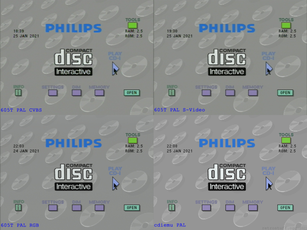 Philips CDI605T player shell - PAL mode