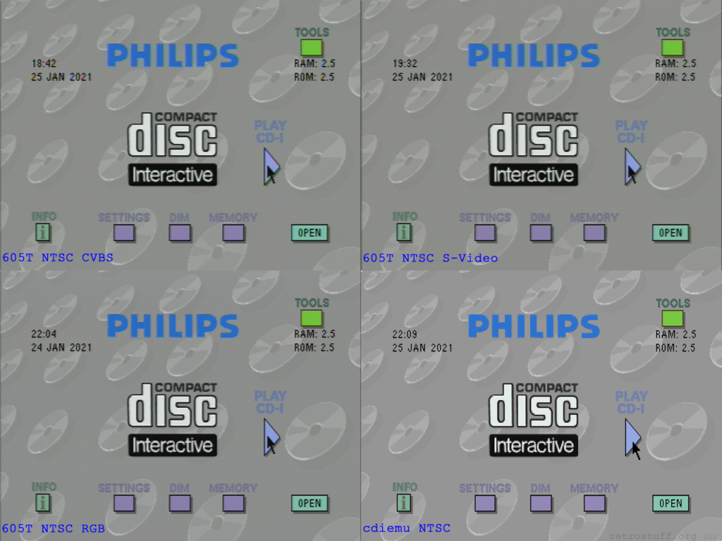 Philips CDI605T player shell - NTSC mode
