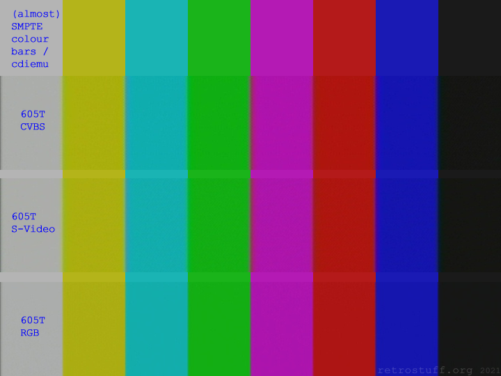 CD-i Service Shell - (almost) SMPTE colour bars (NTSC)