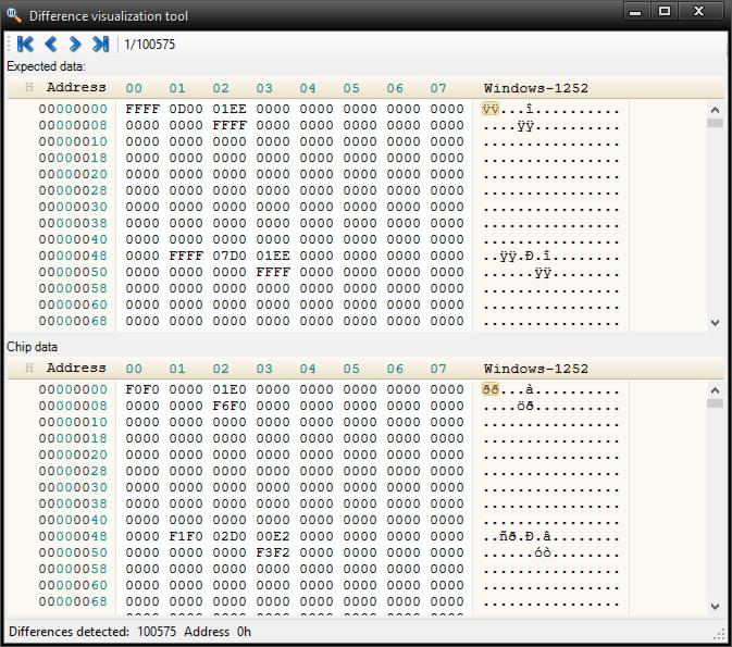 Batronix Prog-Express - Difference visualization tool