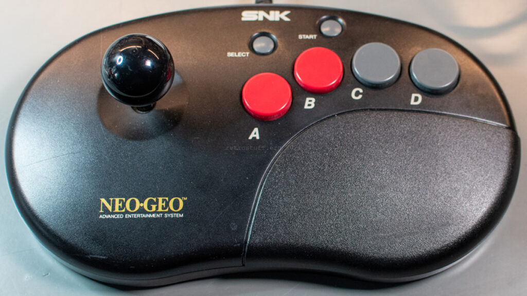 SNK Neo Geo CD Controller Pro with Sanwa LB-35-K ball top