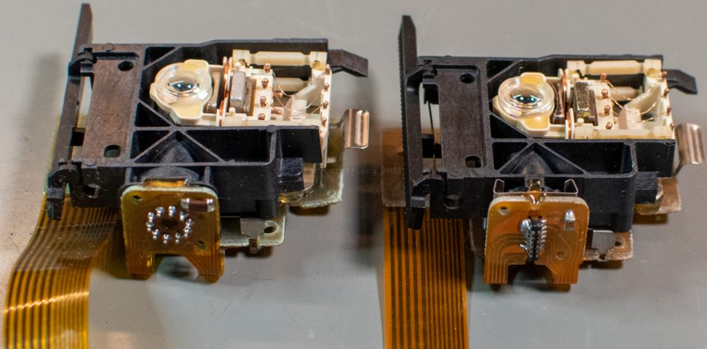 CDM 12.1T: Old (left) and new laser sledge (right)
