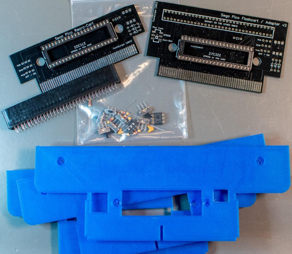 Sega Pico flash cart / adapter v2 kits and back covers