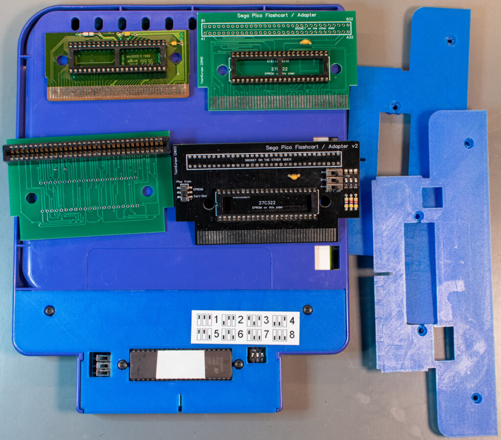 Sega Pico EPROM and flash cart solutions